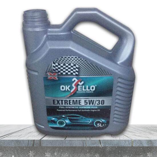 oksello 5w-30 5 litre motor yağı